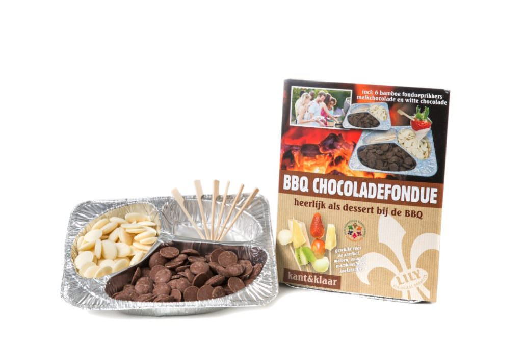 Chocolate fondue with Belgian chocolate