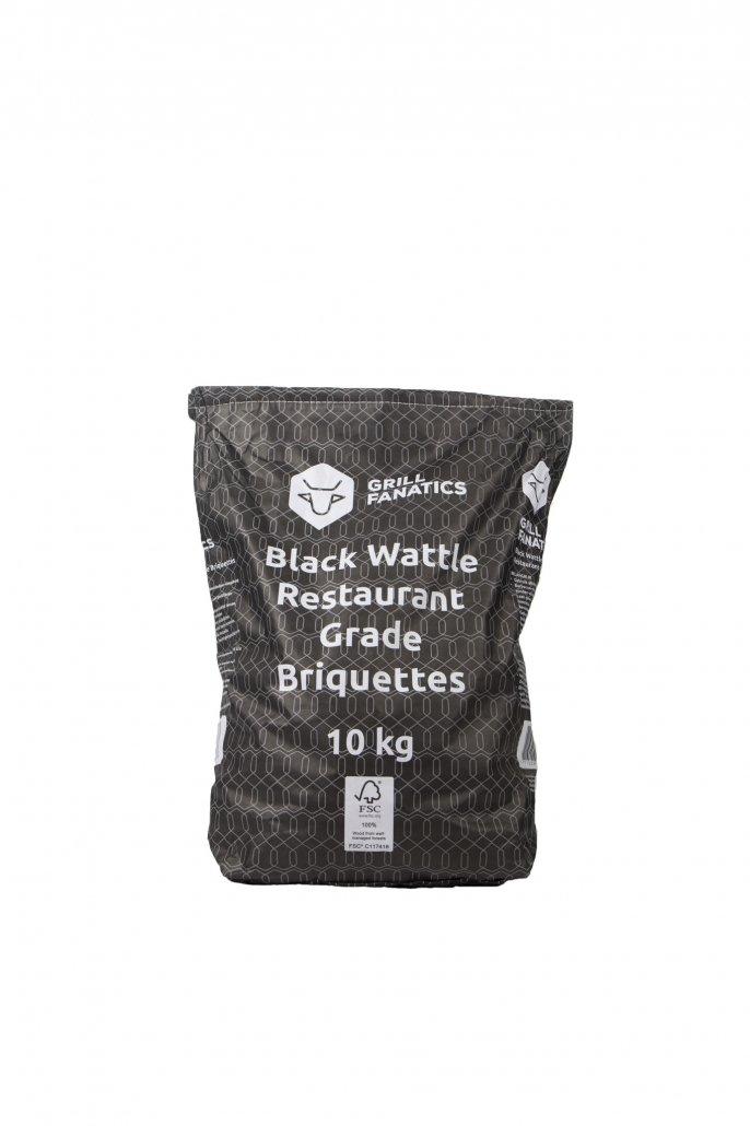 Grill Fanatics black wattle restaurant grade briquettes