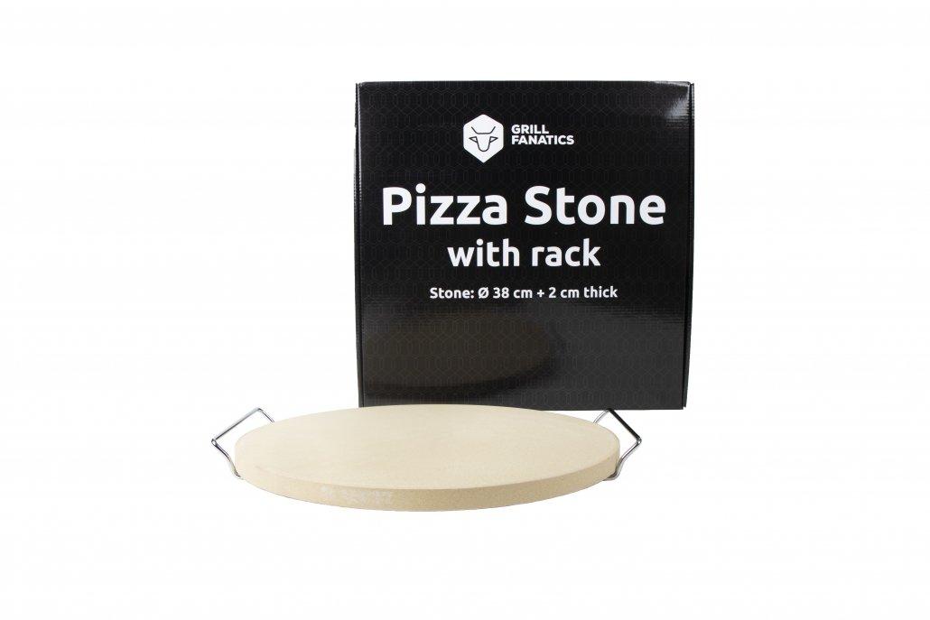 Grill Fanatics pizza stone with rack